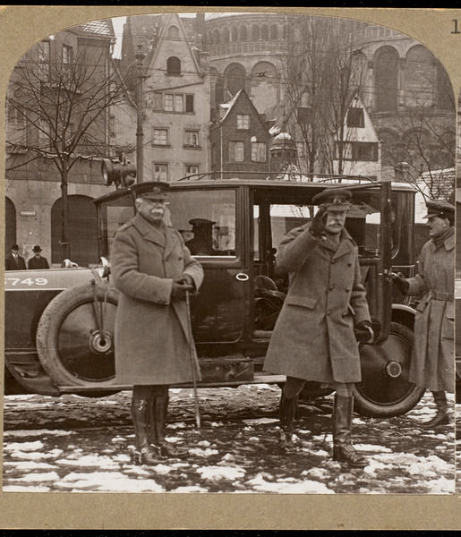 Field Marshall Earl Haig and Lord Plummer visit Cologne on a tour of inspection of the Army of Occupation