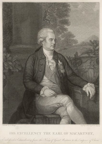 GEORGE, 1ST EARL MACARTNEY diplomat, notably to China Date: 1737 - 1806