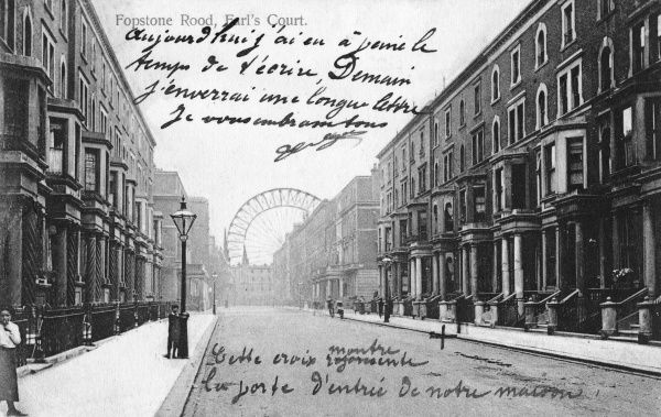 Earl's Court: Fopstone Road and the Big Wheel Date: 1907