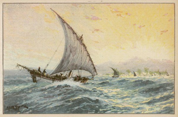 Arab dhow used on the East African coast