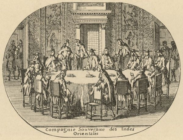 A meeting of the Dutch East India Company