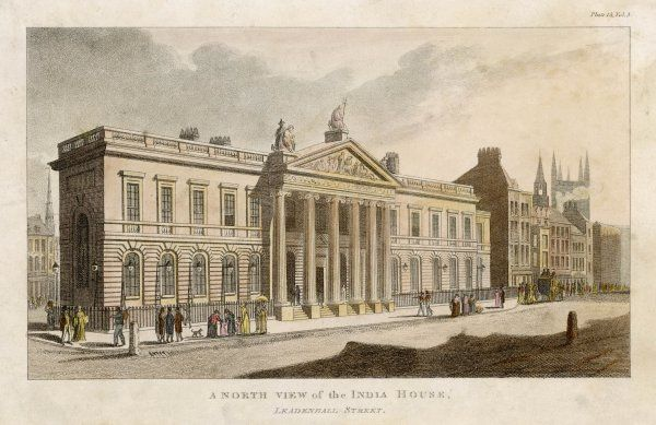 East India House, Leadenhall Street: north view
