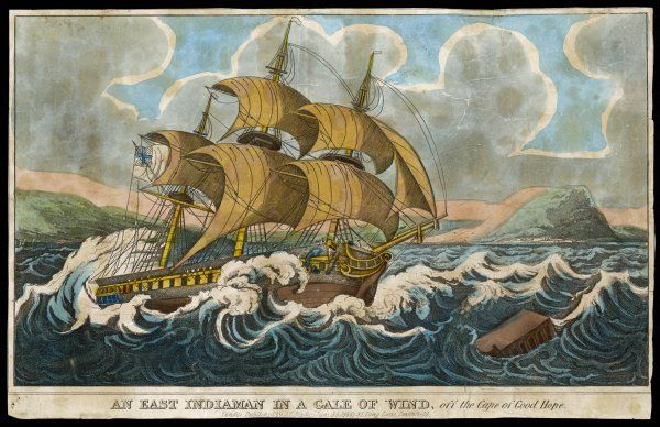 An East Indiaman in a gale off the Cape of Good Hope