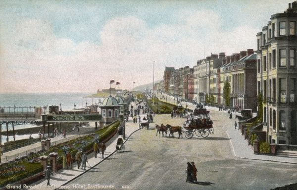 Eastbourne, Sussex: Grand Parade on a quiet day