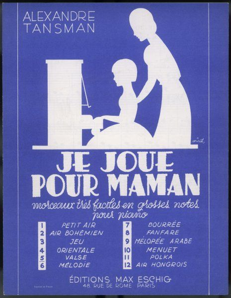 'Je joue pour maman' (= I play for mama) - collection of very easy pieces : this is the valse