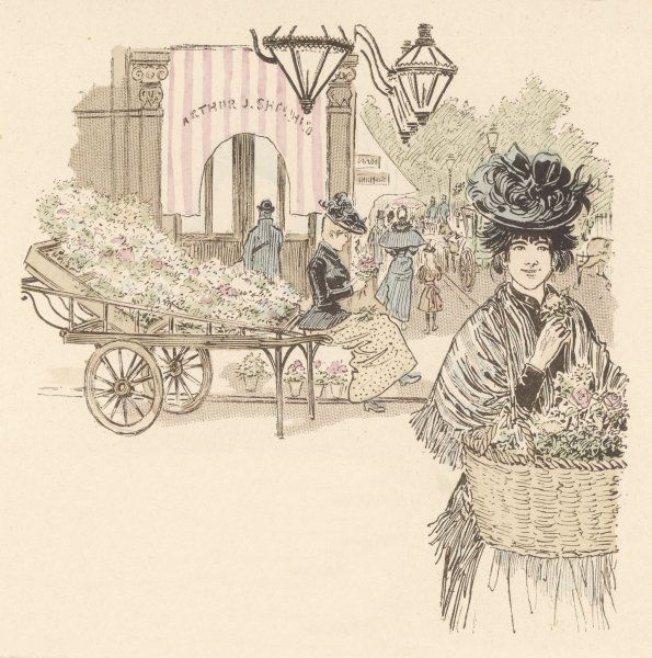 A London flower girl sells her wares on the Edgware Road