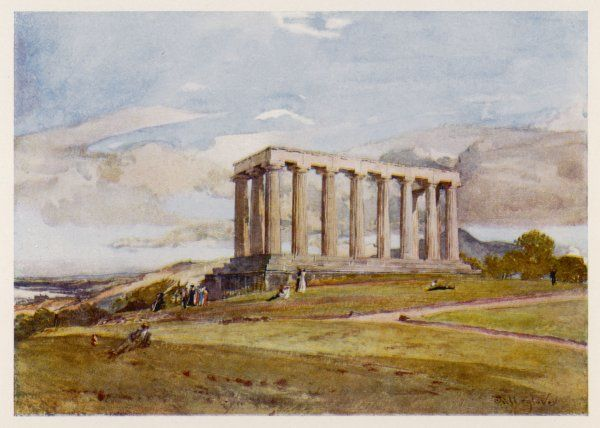 Edinburgh: the National Monument on Carlton (or Calton) Hill