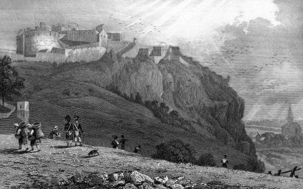 Edinburgh Castle from The Mound Date: 1829