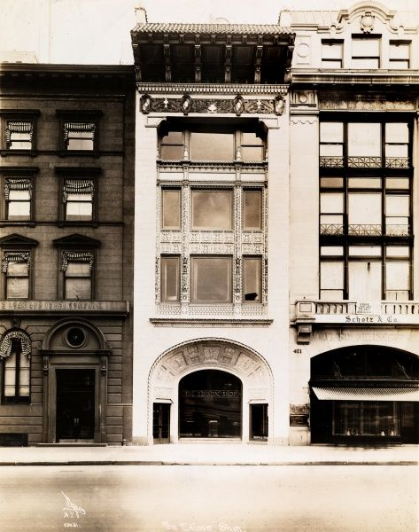 The Edison Shop. 471, 473 and 475 Fifth Avenue; buisnesses include Schotz & Co. and The Edison Shop (subject of photo)