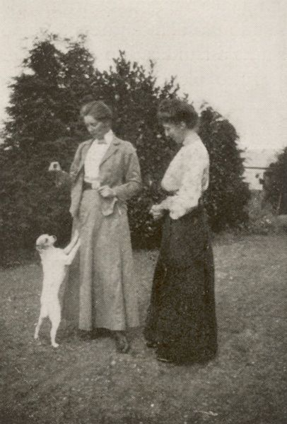 EDITH ANNA OENONE SOMERVILLE Irish novelist pictured with her cousin Violet Florence Martin (Ross) with whom she produced a series of novels