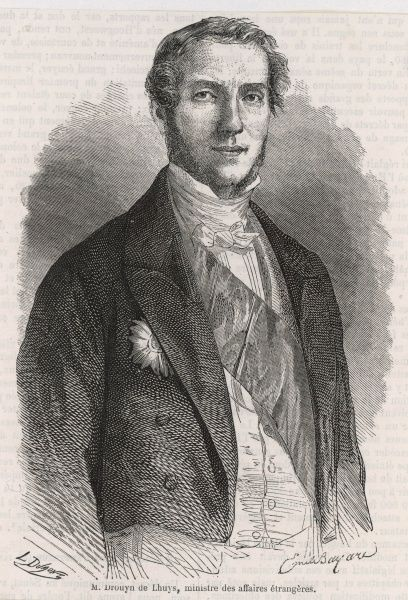 EDOUARD DROUHYN DE LHUYS French statesman, minister of foreign affairs