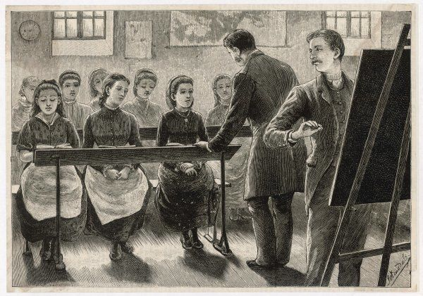 A girls' school - with two male teachers
