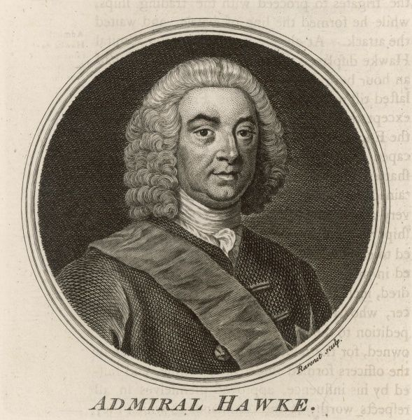 EDWARD first baron HAWKE British naval commander who distinguished himself at La Rochelle 1747 and Quiberon Bay 1759 ; later First Lord of the Admiralty