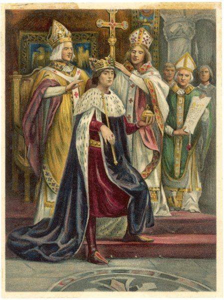 Edward I is crowned at Westminster, some 21 months after he was proclaimed successor to his father Henry III