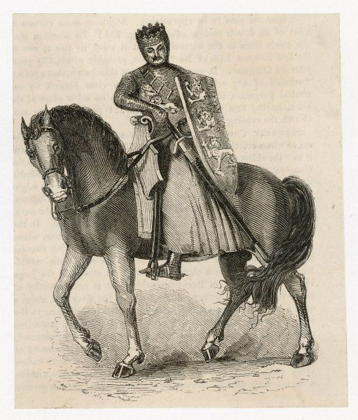 EDWARD I (LONGSHANKS) King of England (1272-1307) in armour, on horseback