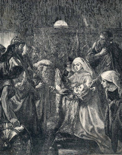 Edward presents his infant son Edward II to the Welsh