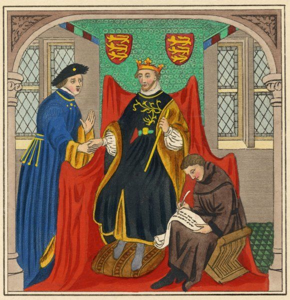 KING EDWARD III (Reigned 1327 - 1377) with Guy, Earl of Flanders