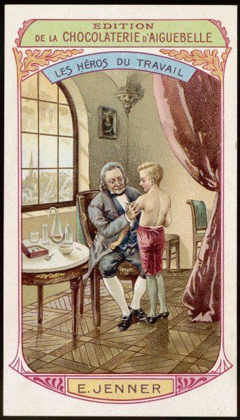 EDWARD JENNER In 1798 he announced that if a child is inoculated with cowpox, two months later s/he won't contract smallpox even though inoculated with it