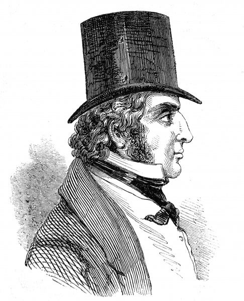 Engraving of Edward Law, 1st Earl of Ellenborough (1790-1871), pictured when Governer-General of India