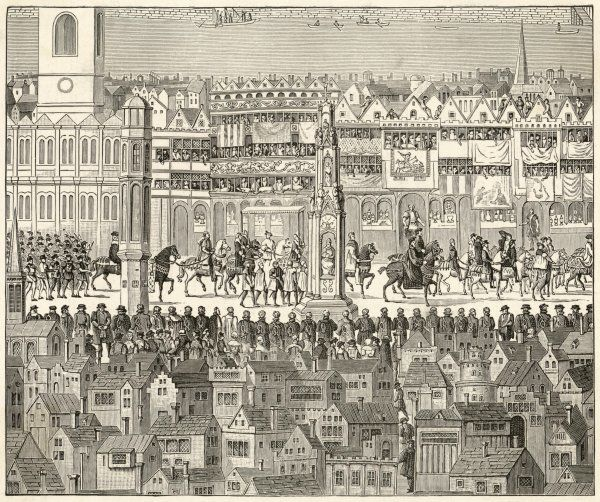 Part of the coronation procession of Edward VI