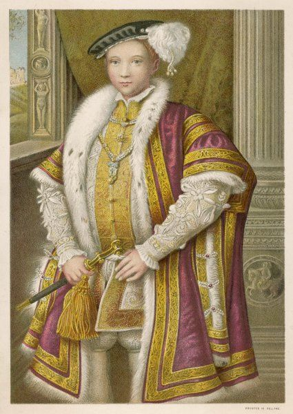 EDWARD VI Only child of Henry VIII by his third wife, Jane Seymour, and only legitimate son, reigned from 1547 to 1553