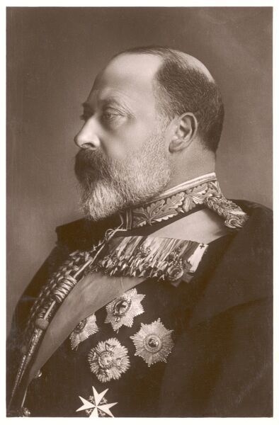 EDWARD VII, BRITISH ROYALTY head and shoulders profile of King