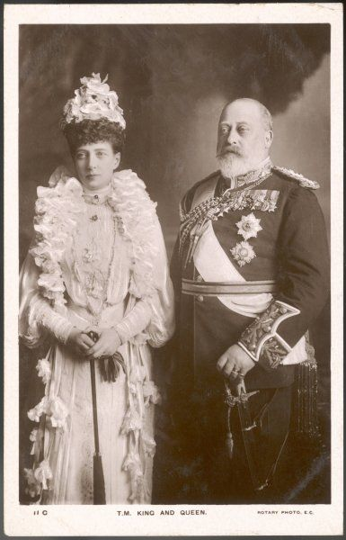 EDWARD VII with Alexandra
