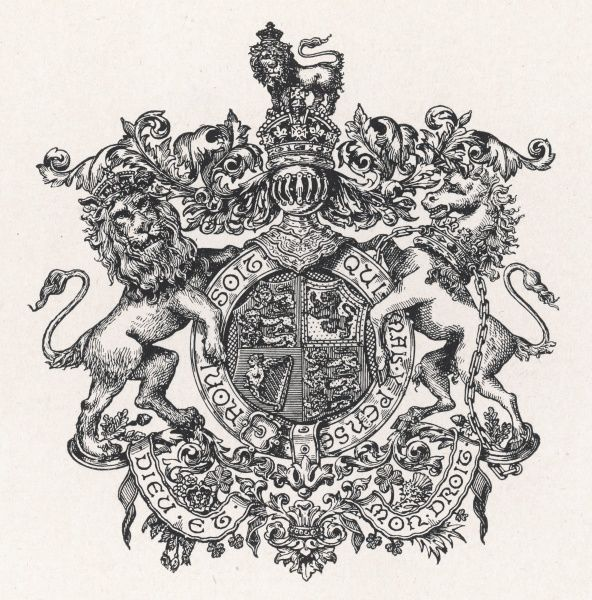 Royal coat of arms of Britain during Edward VII's reign