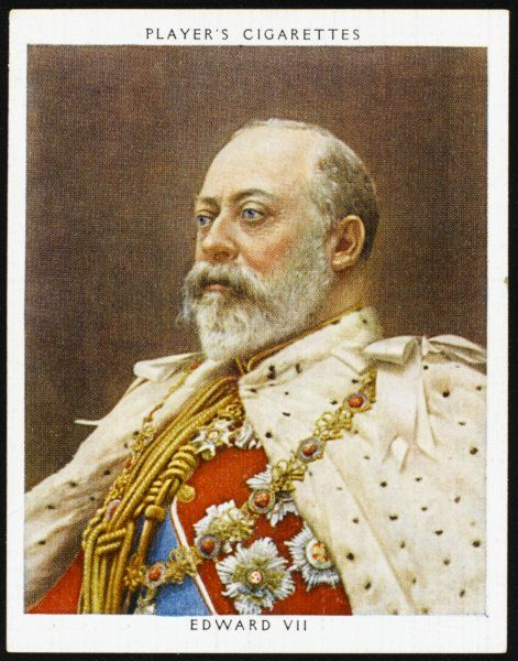 EDWARD VII, BRITISH ROYALTY Reigned 1901 - 1910: seen here in his coronation robes