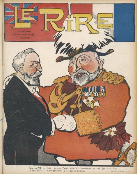 EDWARD VII With Emile Loubet, President of France, at the time of the signing of an Entente Cordiale with Britain
