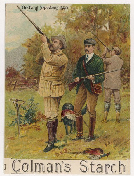 EDWARD VII as Prince of Wales shooting pheasant