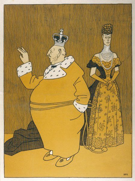 EDWARD VII puts on weight and Alexandra doesn't approve