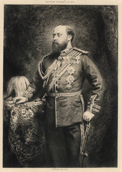 EDWARD VII as Prince of Wales, 1878