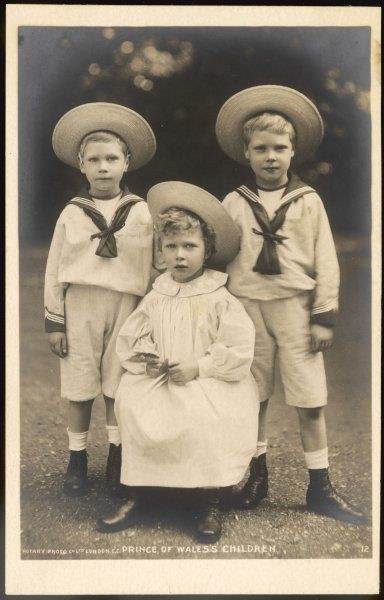 EDWARD VIII as Prince Edward with his brother Albert (later George VI) and his sister Mary (later Countess Harewood)