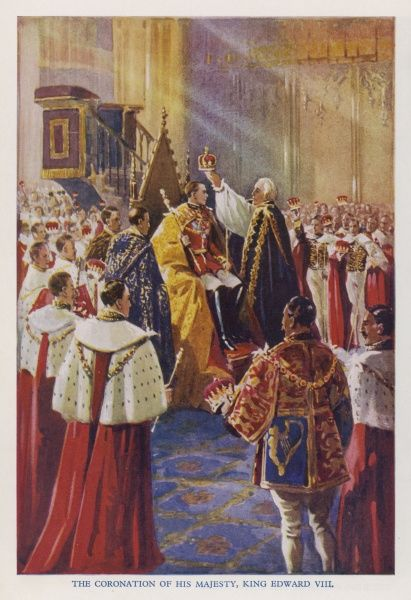 EDWARD VIII An artist's impression of how Edward's coronation ceremony would have looked, had he not abdicated in December 1936