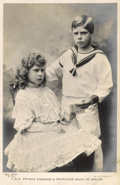 EDWARD VIII as Prince Edward with his sister Mary (later Countess Harewood)