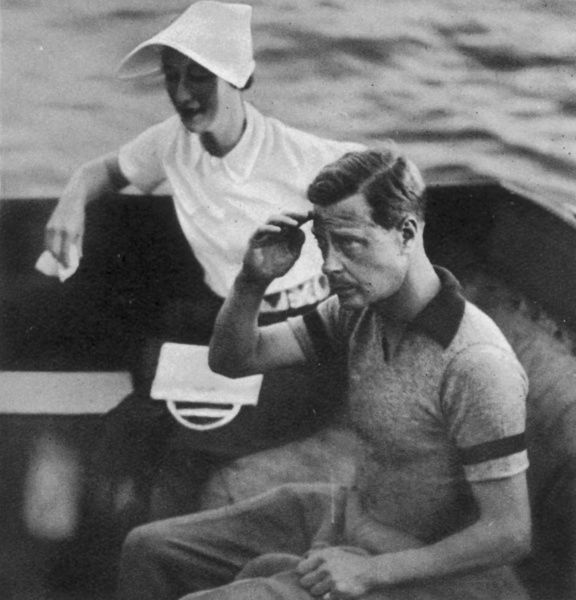 King Edward VIII (1894-1972), later Duke of Windsor together with Mrs. Wallis Simpson (1896-1986), later Duchess of Windsor on the Dalmatian coast in August 1936. Four months later, Edward chose to abdicate the throne in order to marry Wallis