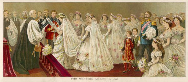 Edward Prince of Wales weds Alexandra of Denmark in St George's Chapel, Windsor Castle