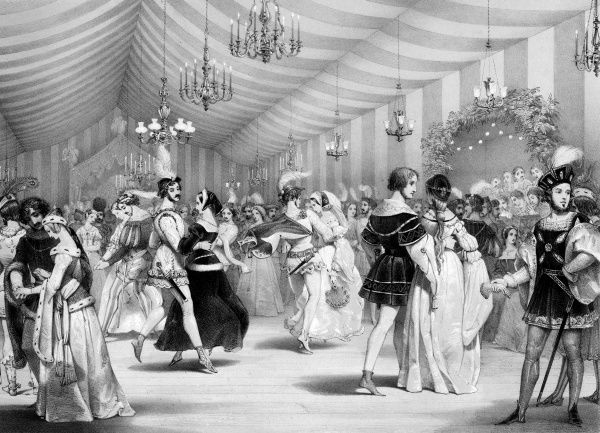 The ball : after the fighting, the flirting - the Earl's 2000 guests feast and dance in the ballroom constructed specially for the occasion. Date: 30 August 1839