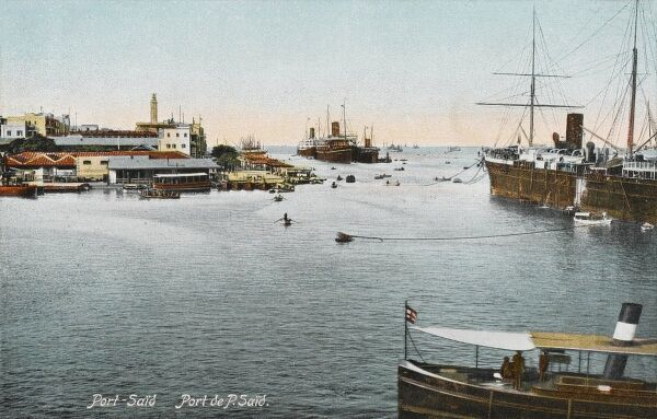 The Harbour at Port Said, Egypt - at the entrance to the Suez Canal