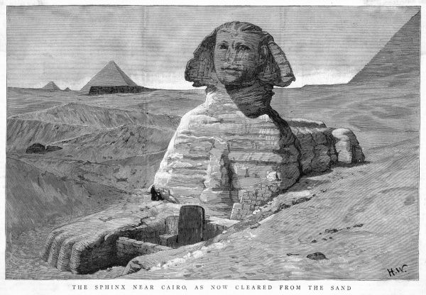 The Great Sphinx cleared of sand