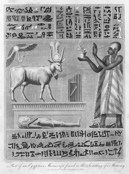 'Part of an Egyptian Manuscript found in the Swathing of a Mummy.&#39