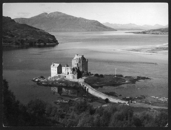 Eilean Donan Castle, on Loch Duich, Ross-shire, Scotland. Originally occupied by a vitrified fort, it was replaced in the 13th century by this castle
