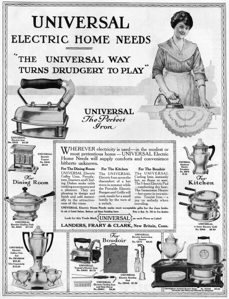 Some Universal electric home needs. Date: 1917