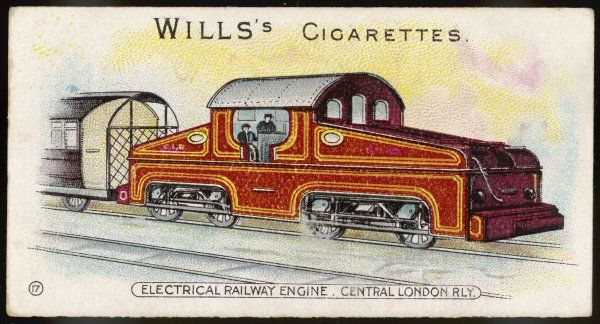 The electrical locomotive which replaced the original steam engines - resulting in quieter, smoother and above all cleaner travel