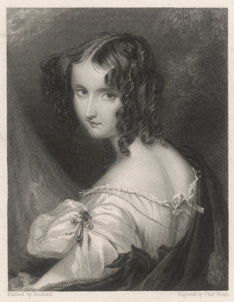 ELIZABETH countess of HARRINGTON (nee Green) wife of Leicester Stanhope, fifth earl : a fine example of the romantic style of portraiture then in vogue
