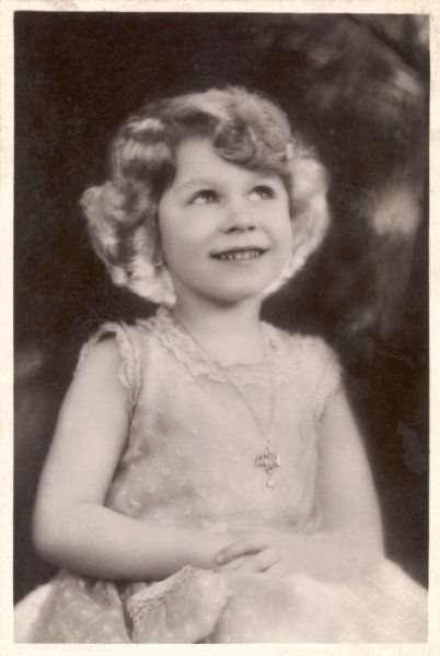ELIZABETH II as a young girl