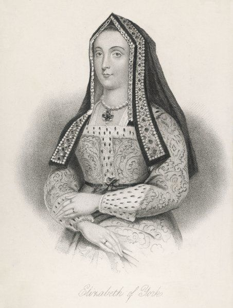 ELIZABETH OF YORK Daughter of Edward IV & Elizabeth Woodville, her marriage to Henry VII united the houses of York & Lancaster