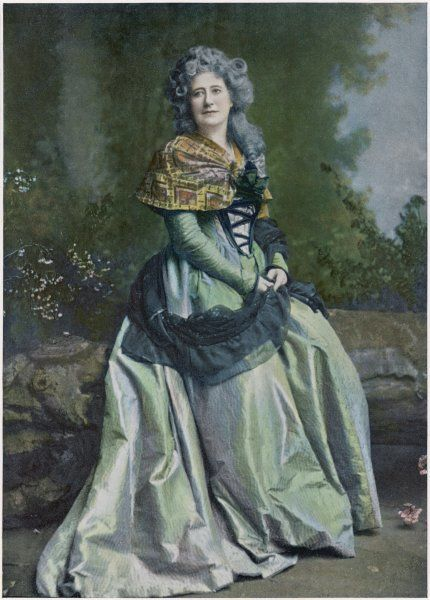 Dame ELLEN ALICE TERRY English actress in the role of Claire de Maulucon in 'Robespierre' at the Lyceum Theatre, London