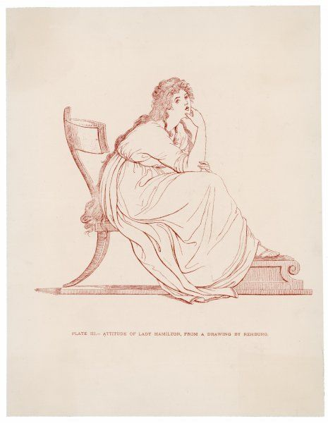 EMMA, LADY HAMILTON Wife of Lord Hamilton, mistress of Lord Nelson, in one of her 'attitudes&#39